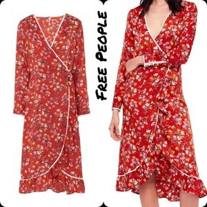 Free People Covent Garden Midi Wrap Dress  6